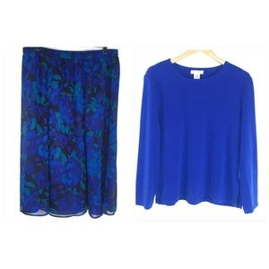 Drapers & Damon's Skirt Set with Matching Scarf